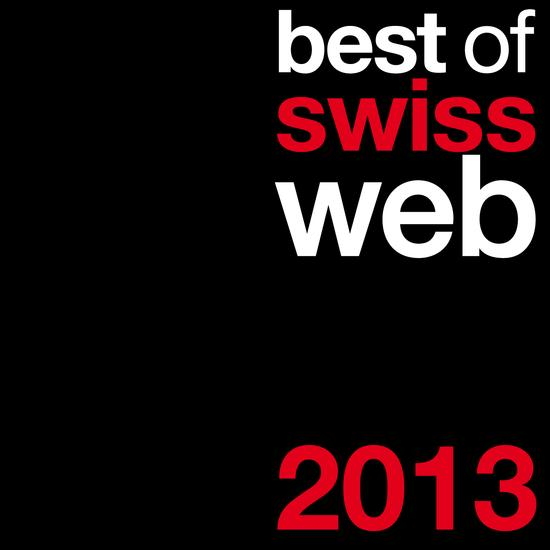 Best of Swiss Web Award 2013