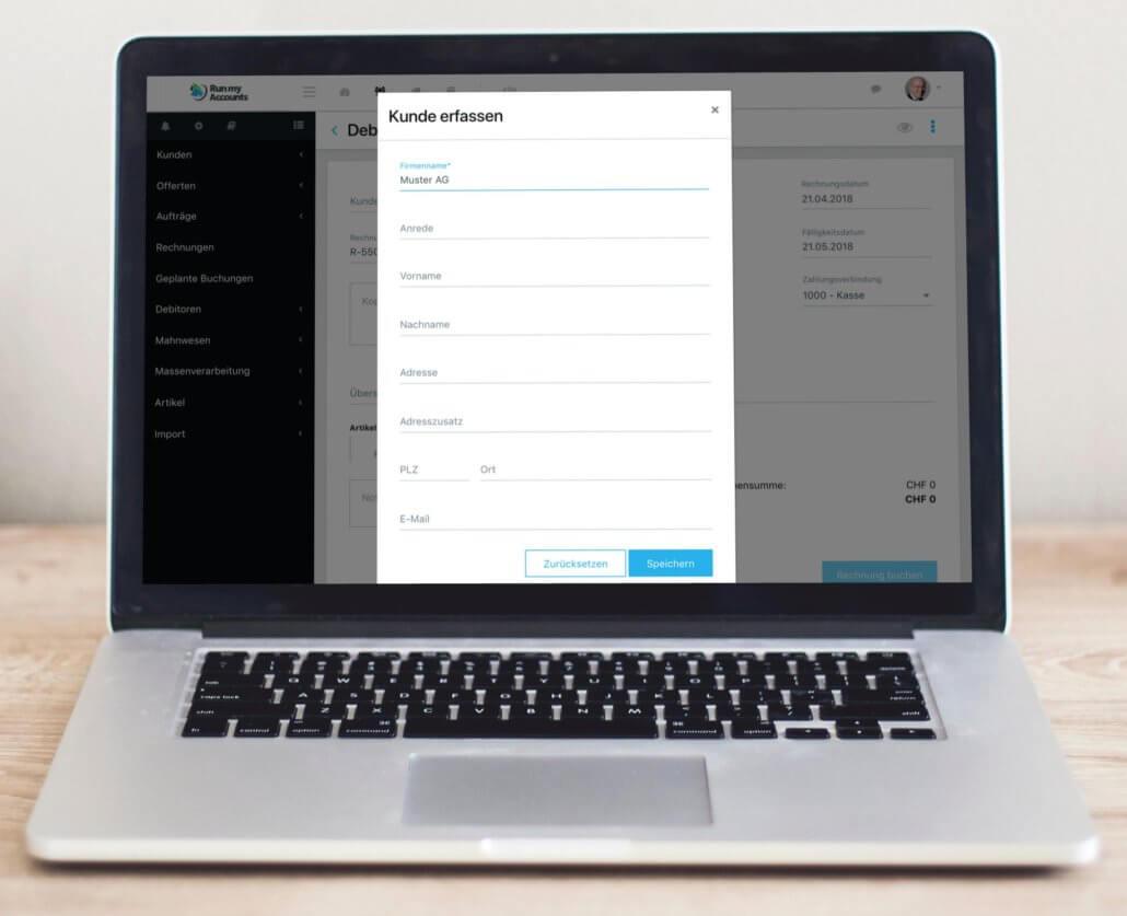 Kunden erfassen - Update der Buchhaltungssoftware