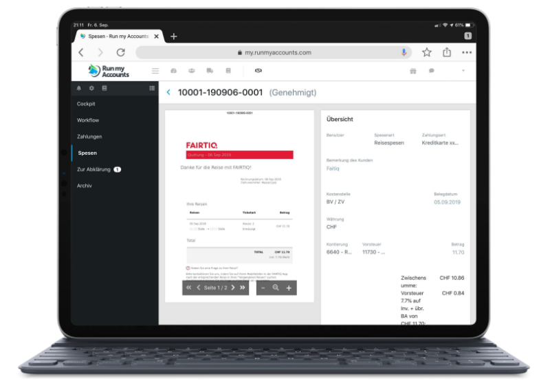 Online-Buchhaltungs-Software Run my Accounts
